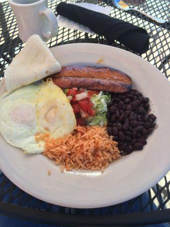Iron Springs Cafe : The awesome andouille sausage breakfast. Yum yum.