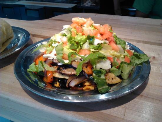 Bueno Y Sano: The burrito mountain (no tortilla)