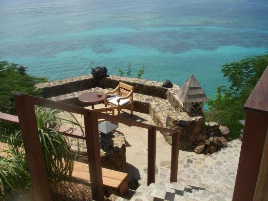 Necker Island: sitting area