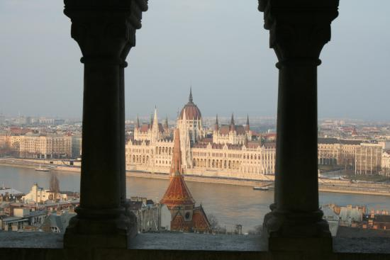 Free Budapest Walking Tours: View of the House of Parliment from the Castle DIstrict