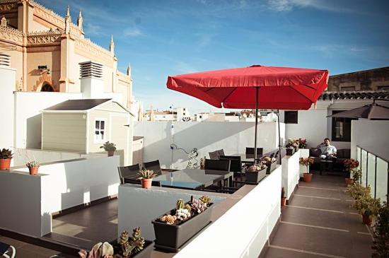 Apartamentos San Pablo: Terraza-solarium