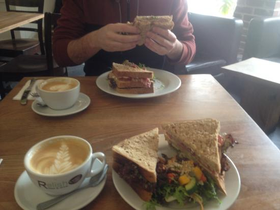 Relish Food and Drink: Mmm sandwich and coffee