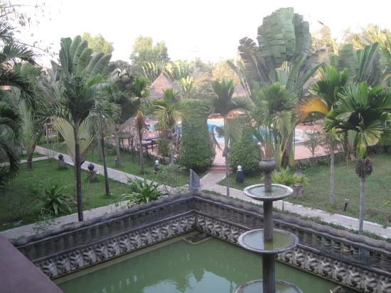 Angkor Spirit Palace: View towards the pool from the 2nd floor