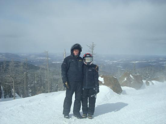 Northern NH Snowmobile Tours: Peter & Melissa on Sugar Hill