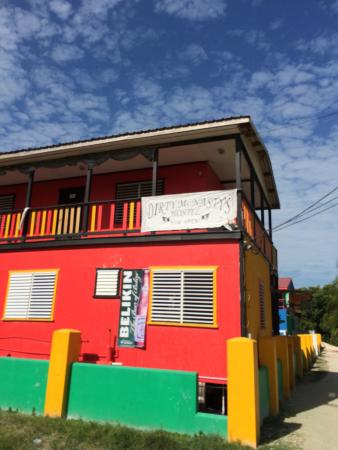 Dirty Mcnasty's Hostel : View as you come from the Main Street
