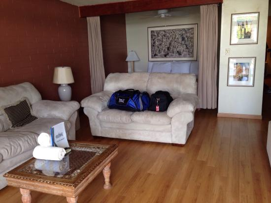 CCBC Resort Hotel: Very Comfy - Room #20 was Like An Condo !!! Two Rooms with Kitchen and Big Screen HD TV.