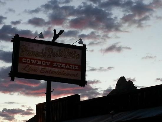 Pinnacle Peak Patio Steakhouse: Sunset View Of Pinnacle Peak