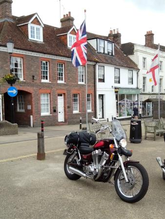 The Bull Inn: My bike in Battle.