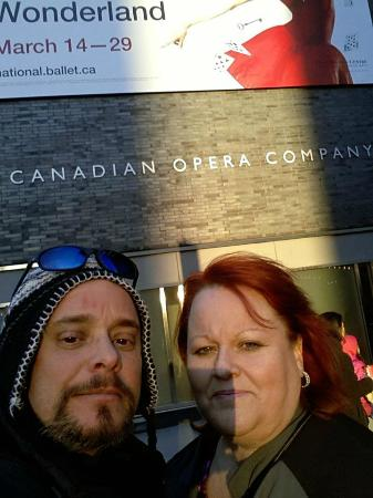 National Ballet of Canada: Don & Lorraine outside
