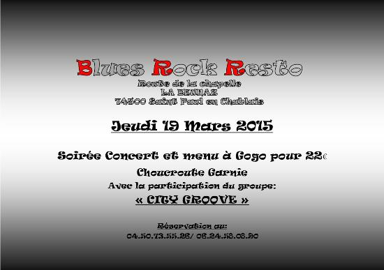 Blues Rock Resto Soiree Concert Du Jeudi 19 Mars 2015