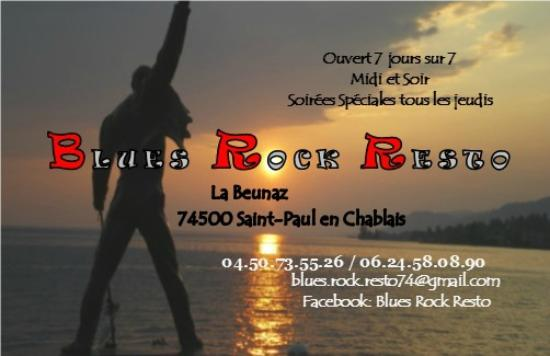 Blues Rock Resto Notre Carte De Visite