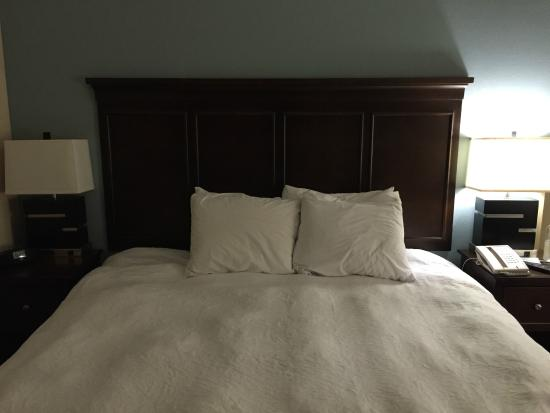 Hampton Inn & Suites New Iberia: The lovely bed presentation
