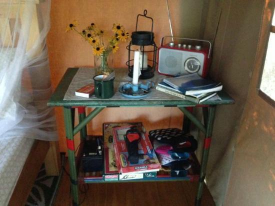 Wainamu Luxury Tents: Cute touches inside tent