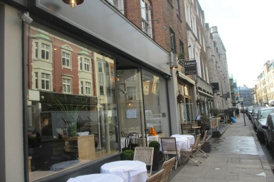 Fairuz: Entrance and Sidewalk tables