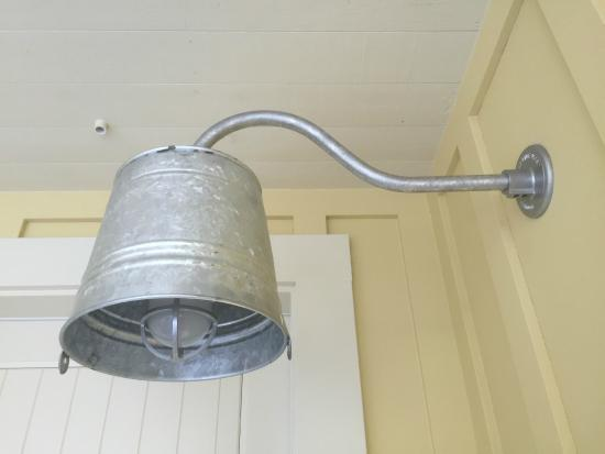 Forestville, CA: Milk pail light fixture