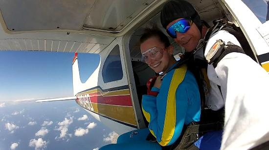 Skydive St Kitts: Nothing but blue skies