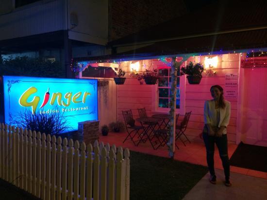 Ginger Indian Restaurant : Charming entrance to the Restaurant