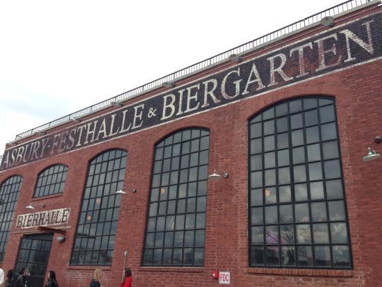 Asbury Festhalle & Biergarten: such a cool location!