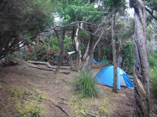 Adventure Seekers: set up camp and relaxing before dinner