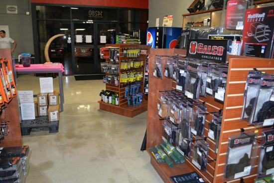 Stone Hart's Gun Club & Indoor Range: Inside our showroom