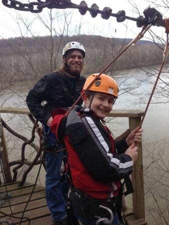 River Riders: younger son with guide Steve
