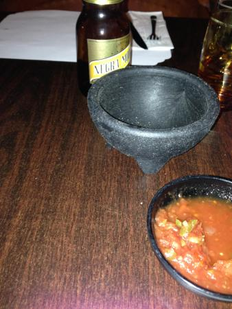 Tubac, Arizona: This is the tiny bowl the chips were served in.
