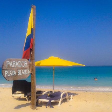 Isla Baru, Colombia: parador Playa Blanca