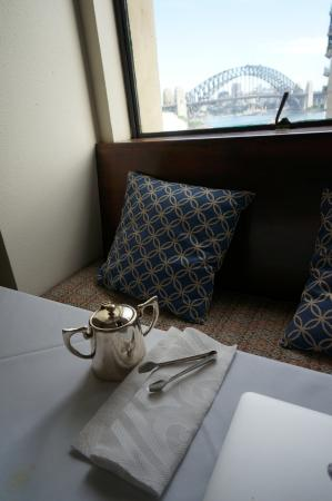 The Royal Automobile Club of Australia Accommodation: View from BFast table - silver and sceanery