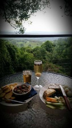 Treetops Seaview: afternoon nibbles from the deck