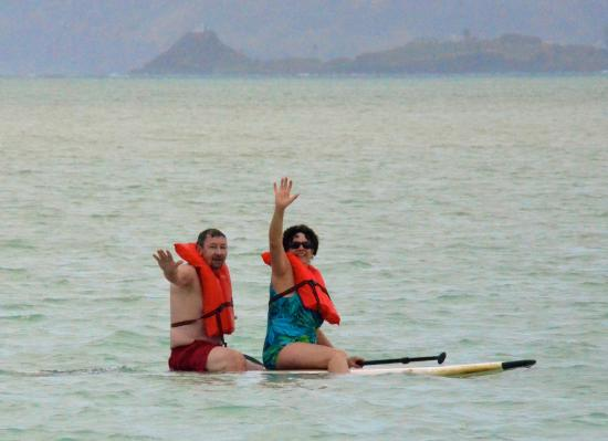 Bellows Air Force Station : Paddle Board fun on the nearby Kaneohe Sandbar!