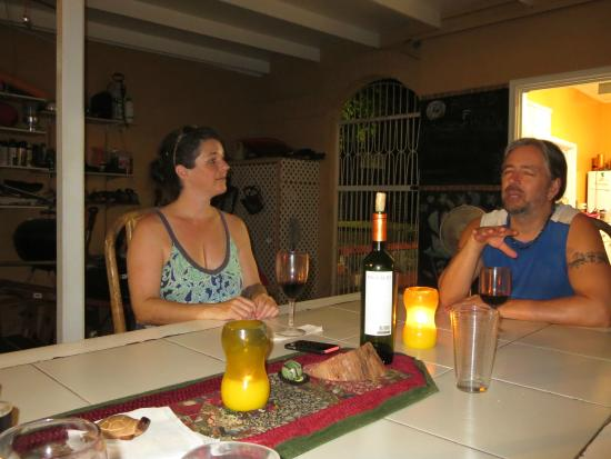 Boiled Frog Guesthouse: After dinner chat with S&D.