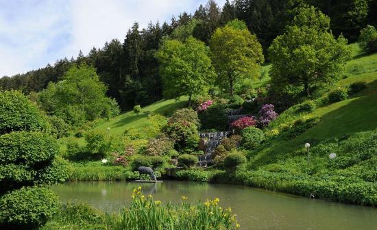 Hotel Therme Bad Teinach: Eigene Parkanlage mit Wasserfall