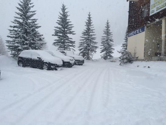 Hotel du Hameau : Il neige