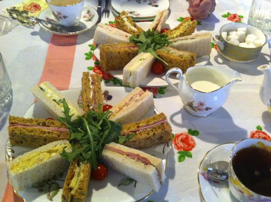 Whitemoors Antiques and Crafts Centre, Country Tea Rooms & Gardens: A feast of sandwiches
