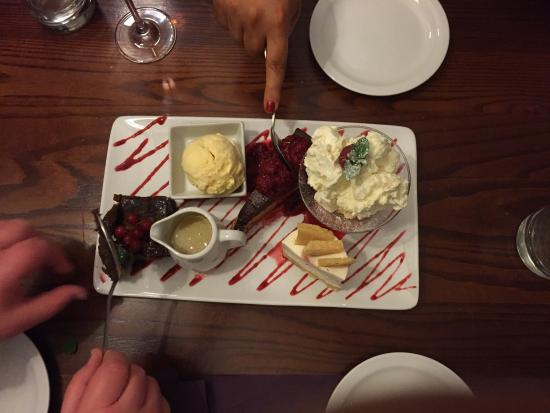 The Millstone: Shared dessert selection