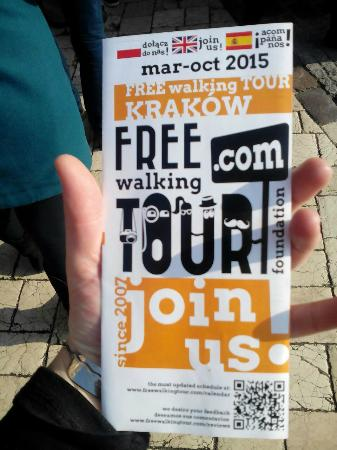 Krakow Free Walkative Tour: Free Krakow Walking Tour Pamphlet
