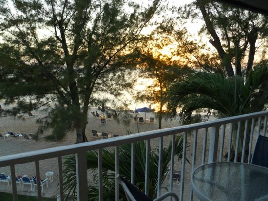 Villas of the Galleon: View from balcony at sunset