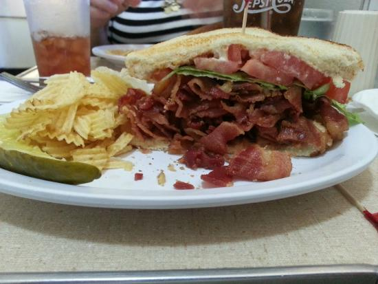 1/2 of BLT at Crown Candy - Picture of Crown Candy Kitchen, Saint ...