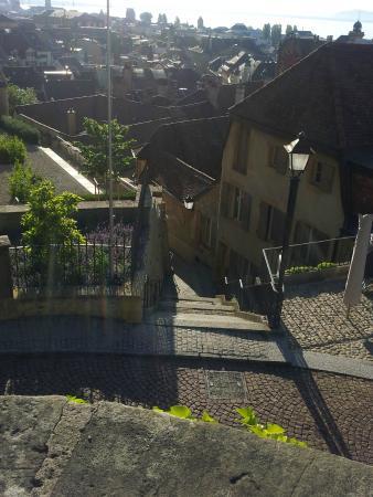 Cafe de la Collegiale : On the right the terrasse