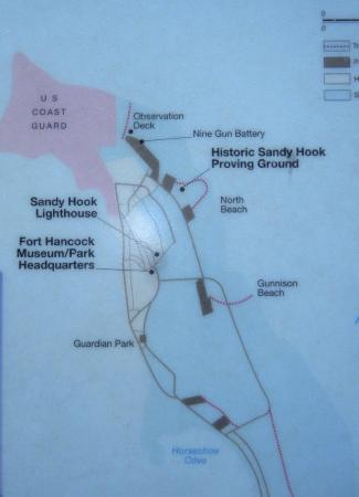 Map of Fort Hancock