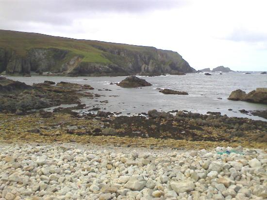 The Deserted Village of Port: View from the beach to the left