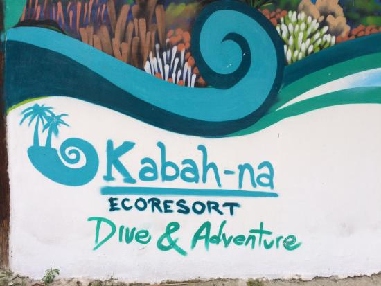 FUSION Restaurant Beach Bar : Here is the Kabah-na Dive & Adventure Booth right next door!