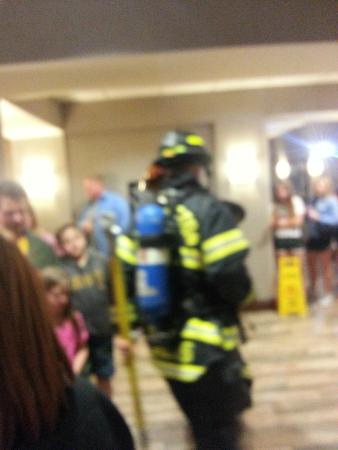 Hampton Inn & Suites Minneapolis - St. Paul Airport: At least we got to see fireman