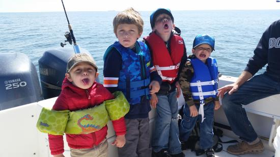 Knot @ Work Fishing & Site-Seeing Charters : Silly Boys!!!  Happy 6th Cass!!