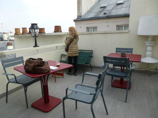 MARAIS HOme Hotel: Bijou & well designed Roof terrace