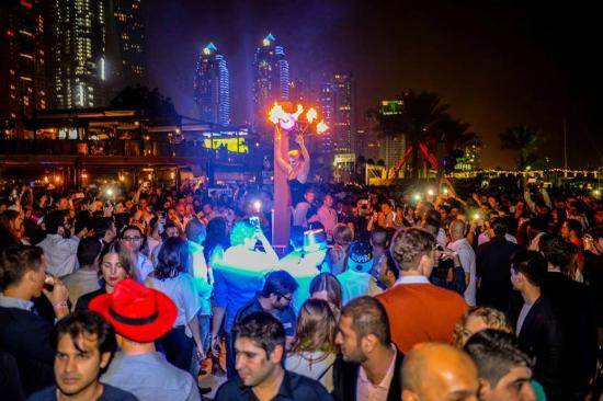 Performance - Picture of Barasti Beach Bar, Dubai - TripAdvisor