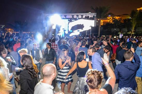 DJ stage - Picture of Barasti Beach Bar, Dubai - TripAdvisor