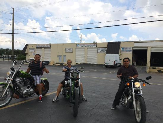 Sand Dollar Sports Harley Davidson Tour: The guys and I trying out their different bikes!