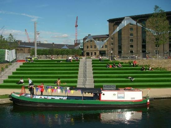 King S Cross Granary Square Steps London Picture Of