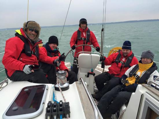 Commodore Yachting: Sailing in the Solent in March (a little cold, but great fun!)